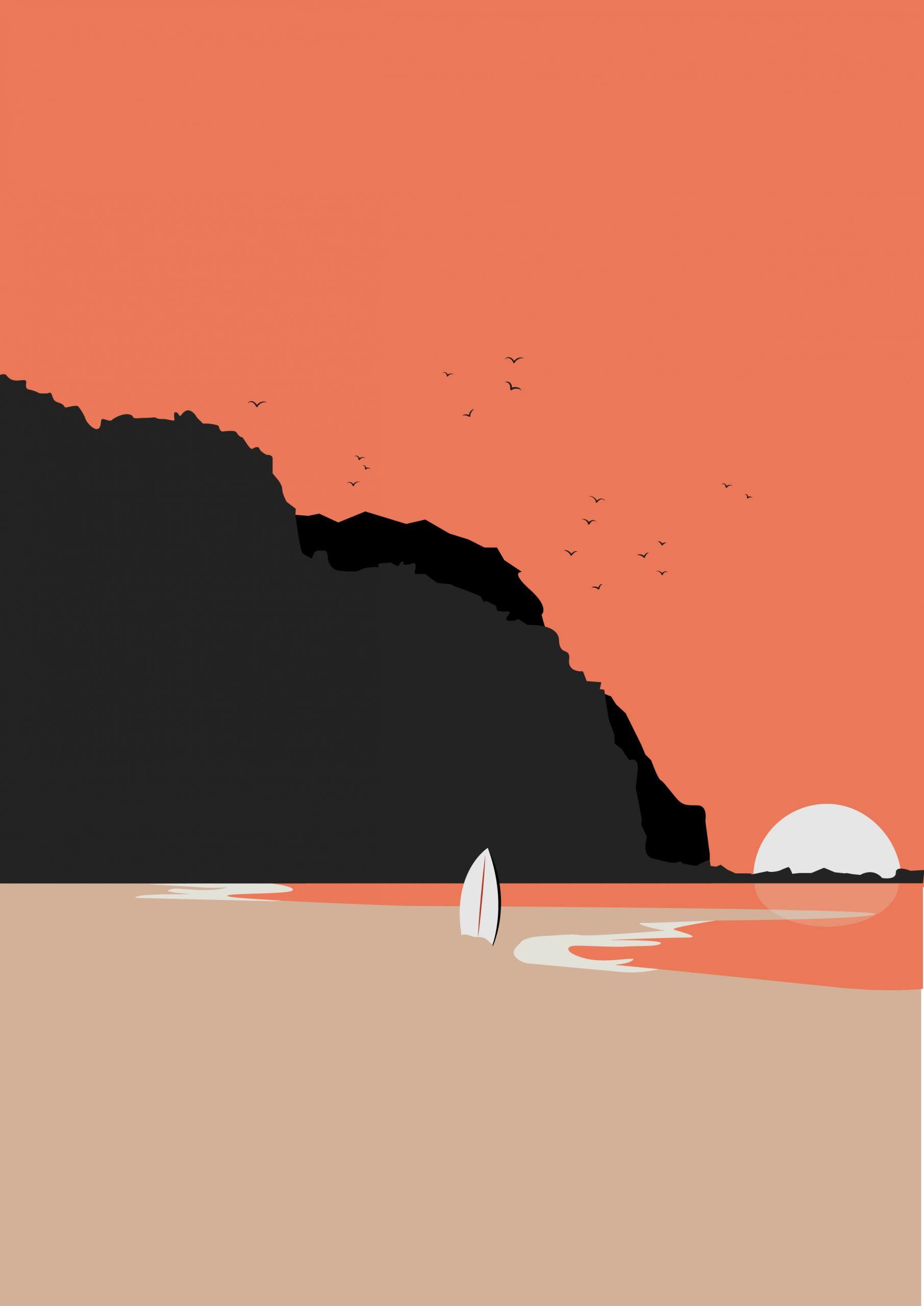 pink beach_Plan de travail 1